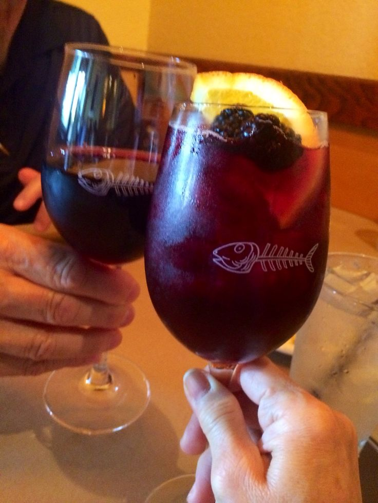 Blackberry red wine sangria at Bonefish Grill