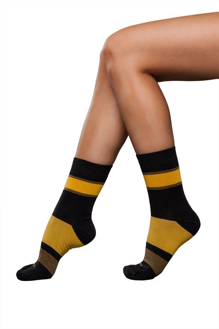 J.Press férfi széles csíkos színes zokni [N° D154] Ár: 890Ft