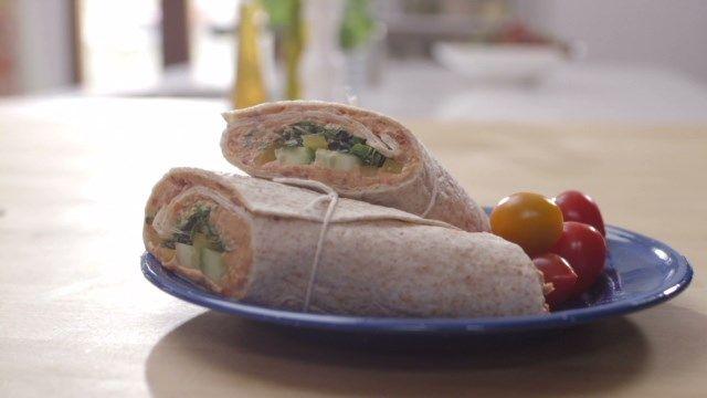 Wrap au poulet et aux tomates séchées | Cuisine futée, parents pressés