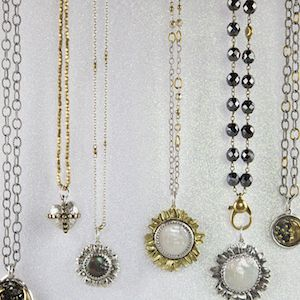 Waxing Poetic Chains and Pendants, lovely layered, inspirations for life at AnnMarieBeads.com