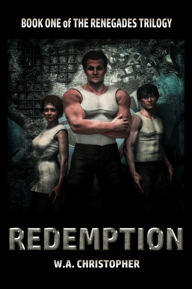 This is the (planned) book cover for REDEMPTION