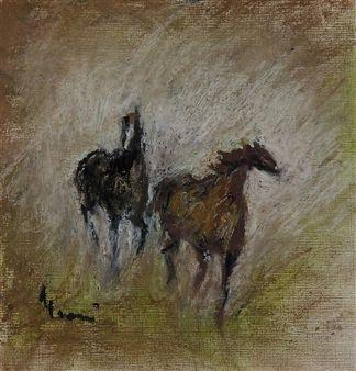 """Elvi Maarni, """"Horses"""""""