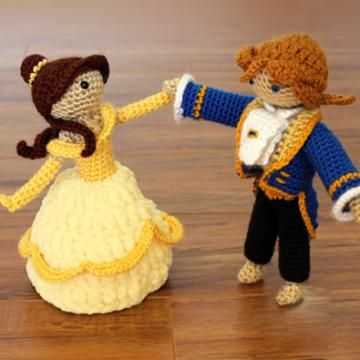 Combo Beauty and Beast amigurumi pattern by Sahrit