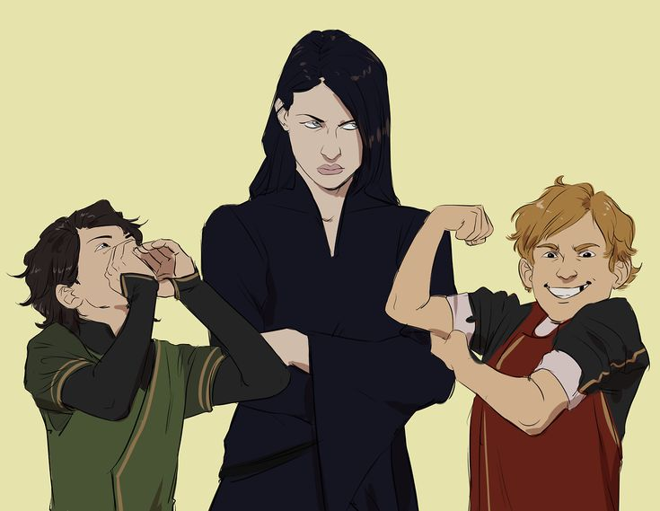 Hela's Darkest Timeline: Where she was never banished and had to babysit Kid!Thor and Kid!Loki.
