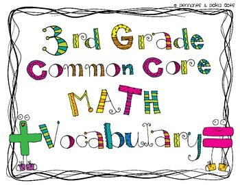 40 Best Images About Math Vocab Word Wall On Pinterest border=