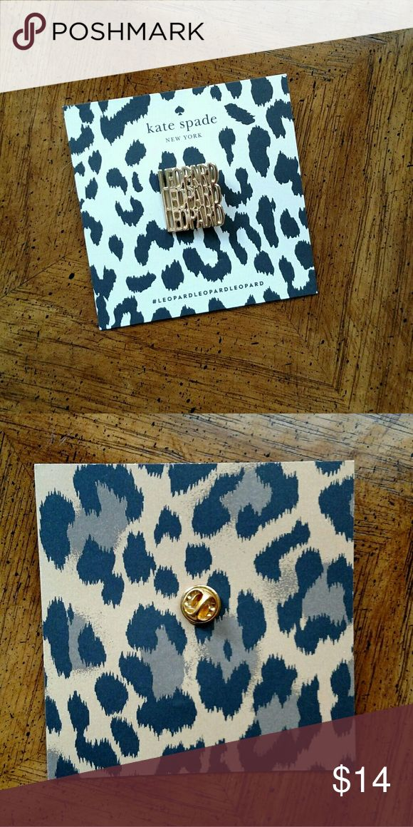 🐆♠NEW KATE SPADE LIMITED ED LEOPARD PIN♠🐆 This Is An Authentic Kate Spade Leopard Pin X 1. This Was Only Available At The Kate Spade Retail Stores For 1 Day For The Grand Opening Of The Leopard Line Collection. This Will Be Very Collectable And Sought After. Keep This In A Safe Place, Or Use Them For A Fun Leopard Party!! 🐆🐆 Buy Separately, Or In My Other Listings As A Bundle. Great For Gifts, Or Save For Yourself! Same Or Next Day Shipping!! Thank You!♠ kate spade Accessories