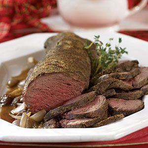 Beef Tenderloin with Shallot Sauce | MyRecipes.com A family favorite!!!