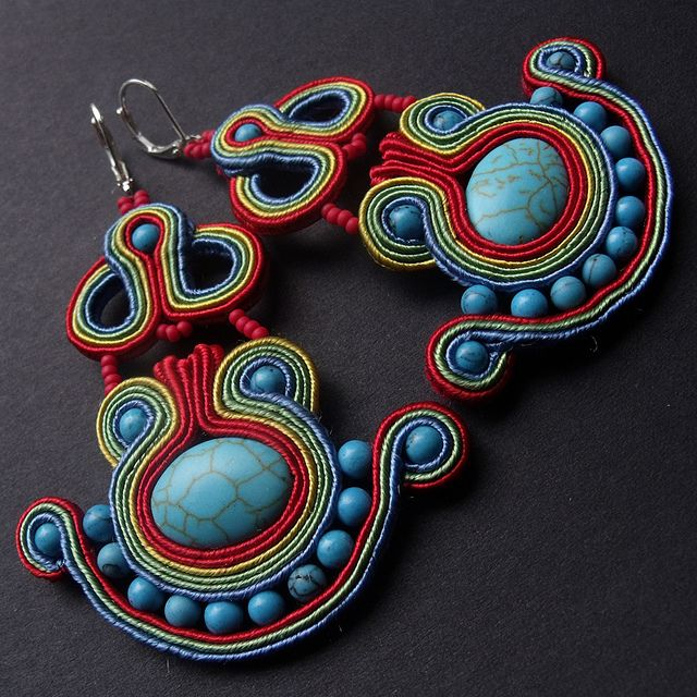Beading with soutache trim--next on my list of things to learn.