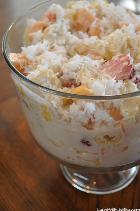 Mexican Creamy Fruit Salad ~ for a crowd!