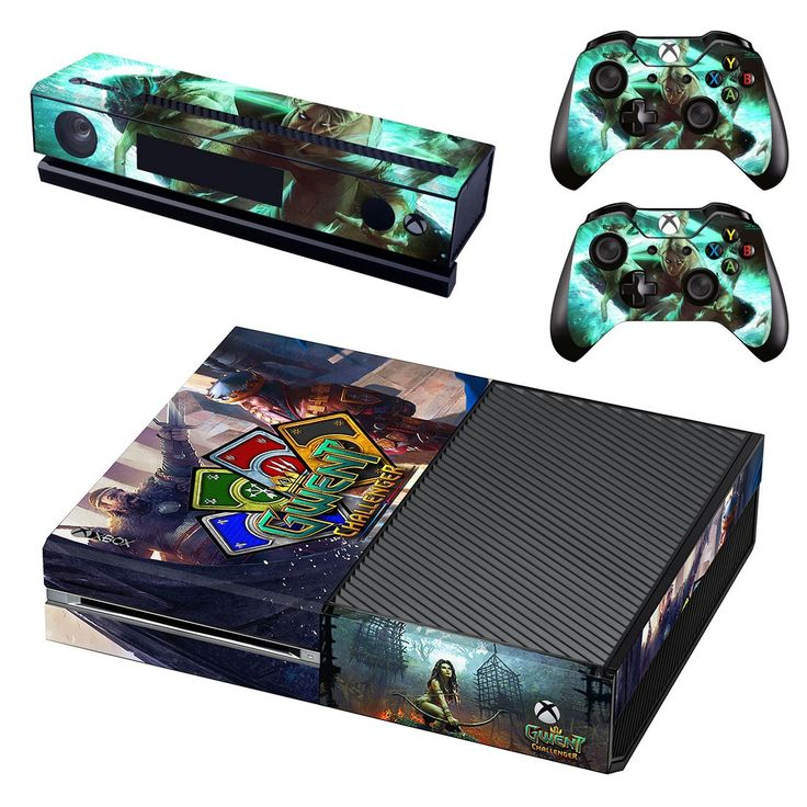Gwent Challenger xbox one skin decal for console and 2 controllers