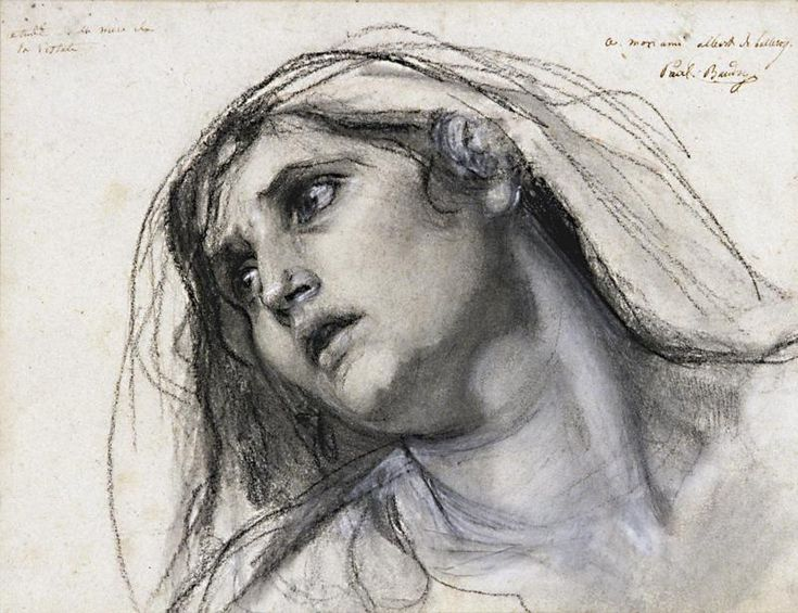 Old Master Drawings - WetCanvas...Baudry, Paul - Study for Virgin.