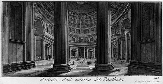 Giovanni Battista Piranesi - incisioni del Pantheon