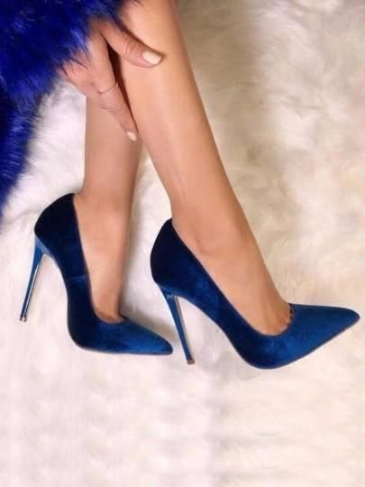 Blue Point Toe Stiletto Fashion High-Heeled Shoes G3693 from Eoooh❣❣