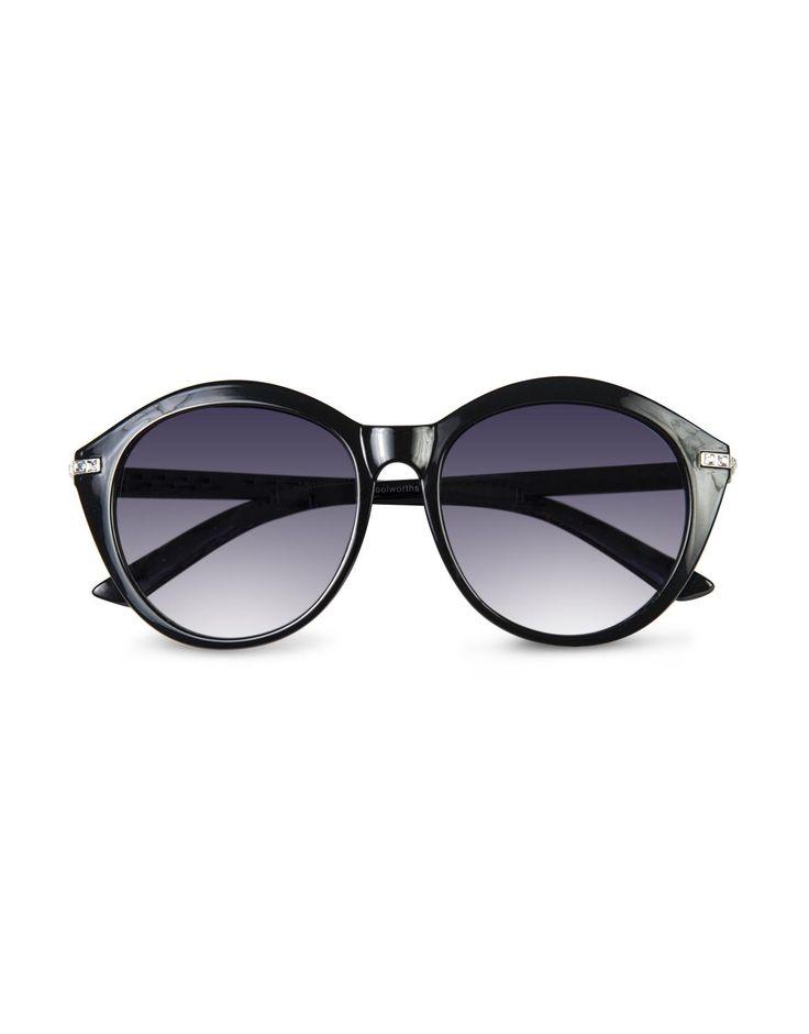 Diamanté Cat Eye Sunglasses