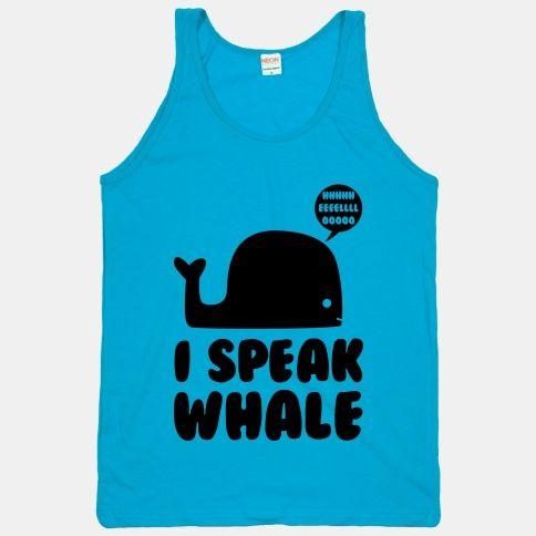 #whale #nemo #dori #disney #cartoon #movie #quote #neon #cute #shirt I Speak Whale