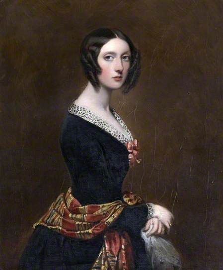Harriet Parker-(1809–1897), Countess of Morley-by Richard Buckner-Date painted: 1843