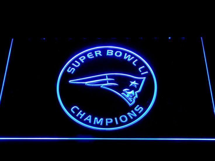 New England Patriots Super Bowl 51 Champions Circle Logo LED Neon Sign