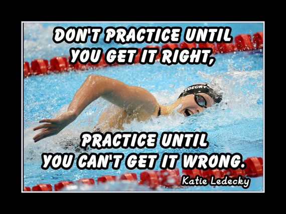 Swimmer Motivation Poster Katie Ledecky Swimming Champ by ArleyArt