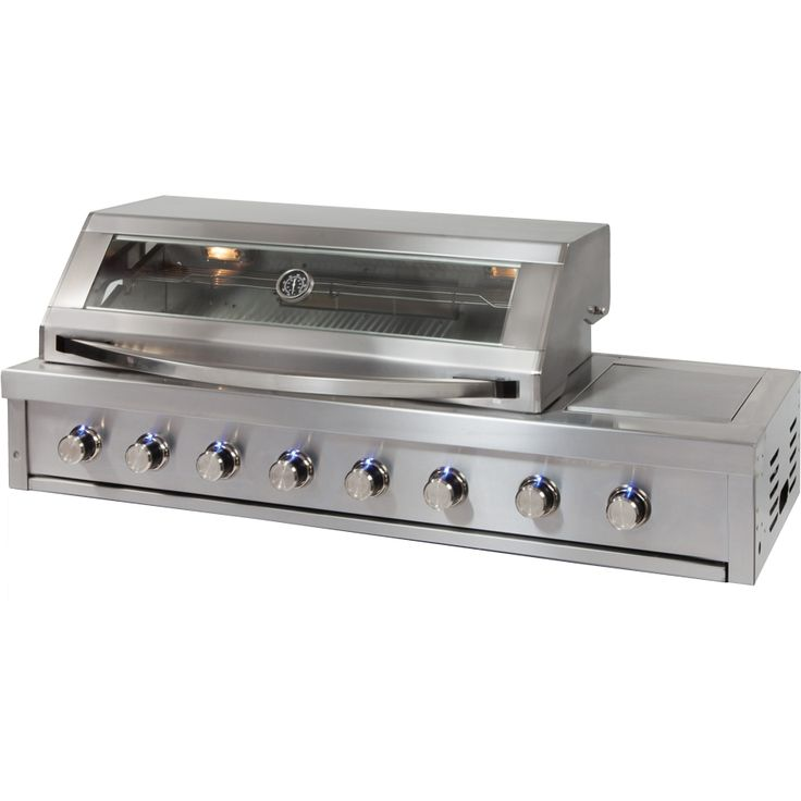 The Gasmate Platinum II 6 Burner BBQ an all stainless steel BBQ with the option of adding Gasmate Platinum Modules to create that perfect Alfresco kitchen