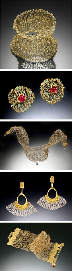 Knitted wire jewelry...the best of both worlds.