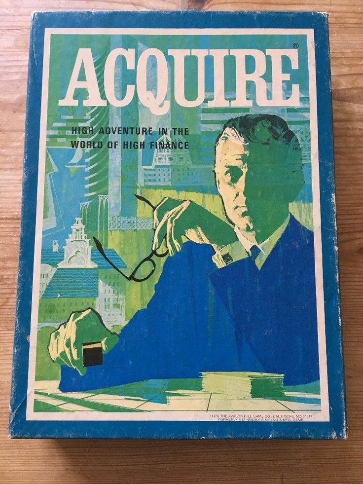 Acquire Board Game - Avalon Hill Bookshelf 1976 | eBay