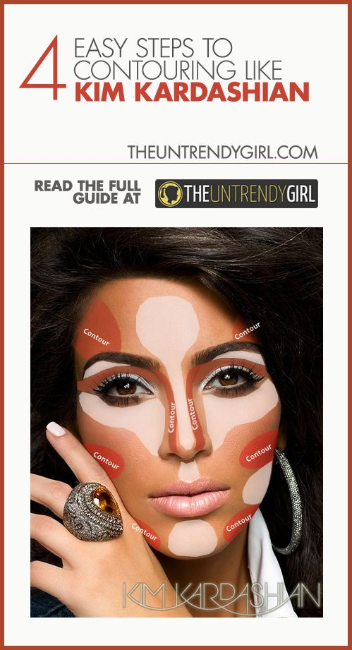 4 Easy Steps to Contouring Like Kim Kardashian - The Untrendy GirlContour Makeup Steps, Contouring Heart Shaped Face, Face Contouring Makeup, Face Shape, Makeup Contouring Heart Shape, Heart Face Hairstyles, Contour Heart Shaped Face, Kim Face Contouring, Heart Shaped Face Contouring