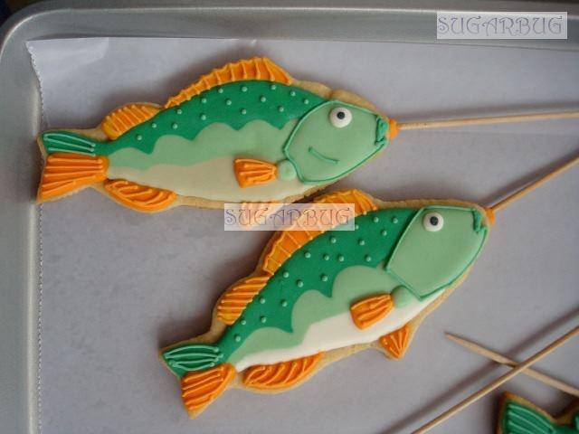 Fish Cookies~     By sugarbug Green, Orange