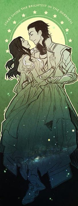 Just realized/rediscovered I have a private board for myself with over 250 images (art, photos, text, etc) of/remind me of Loki and Sigyn. This is one of them, and I love it very much. Looking at that board makes me happy. ^-^