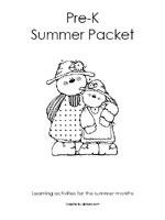 Pre-K Summer Packet - excellent hands on activity ideas for kids to stay sharp and ready for Kindergarten over the summer instead of flash cards and worksheets