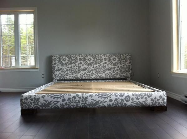 Upholstered bed frame (King size)   Do It Yourself Home Projects from Ana White