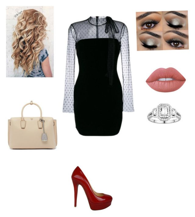 """""""Untitled #77"""" by jordanleigh94 on Polyvore featuring MCM, Simply Vera, RED Valentino, Christian Louboutin and Lime Crime"""