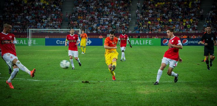 Messi shoots for goal!