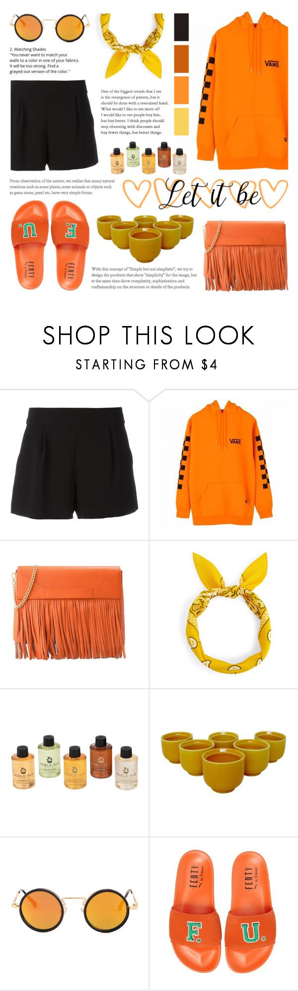 """""""Fall Fresh Look"""" by saviraauliap ❤ liked on Polyvore featuring Boutique Moschino, Vans, Carnill & Company, Rosenthal, Puma, yellow, orange, vans, oversized and chill"""