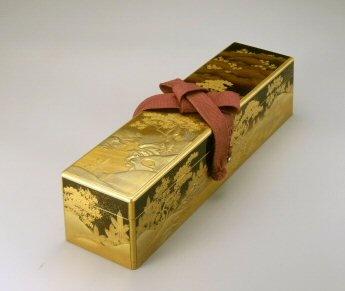 URUSHI Box.... 吉野山蒔絵長硯箱Urushi=lacquered wood