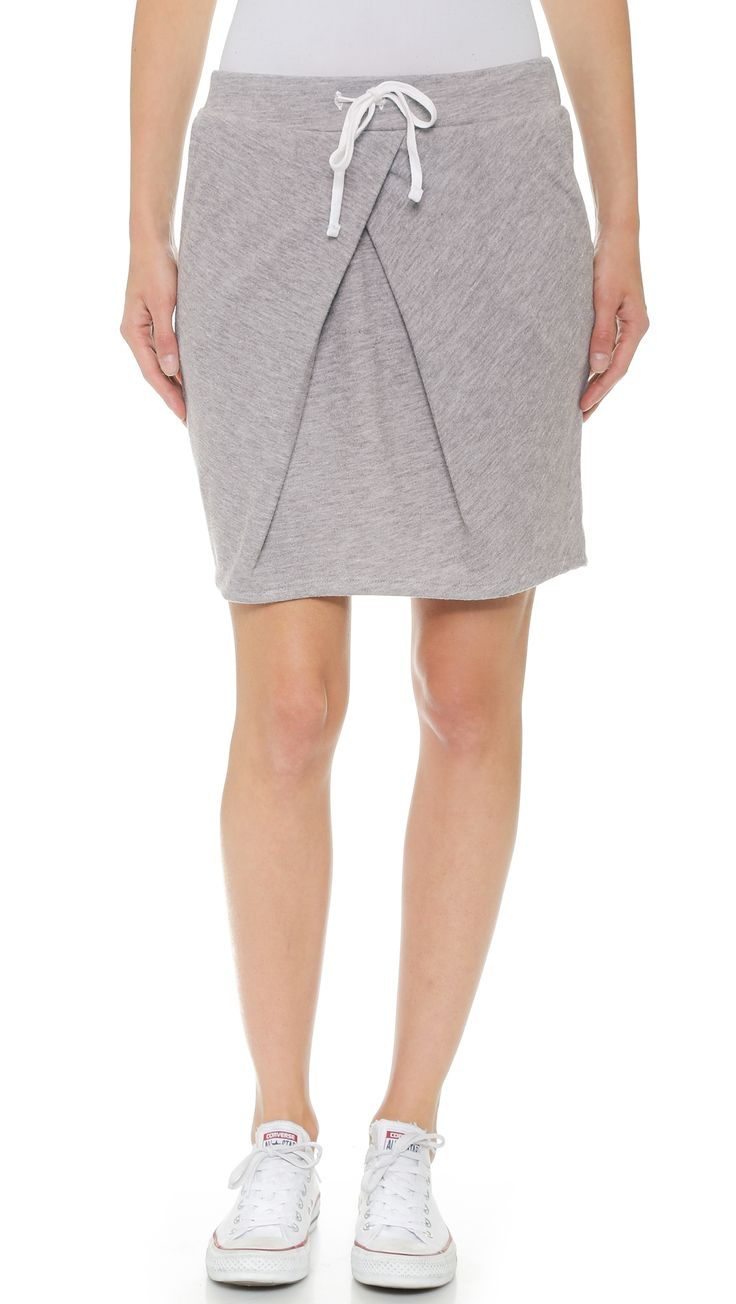 Stateside Pleat Front Sweat Skirt