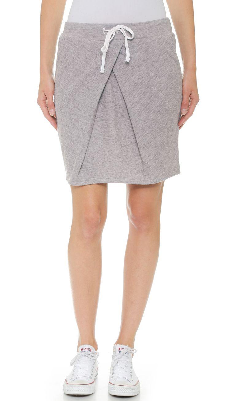 Stateside Pleat Front Sweat Skirt