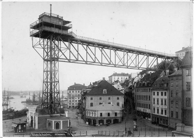 stockholm 1900s | Katarinahissen omkring 1900 - Stockholmskällan