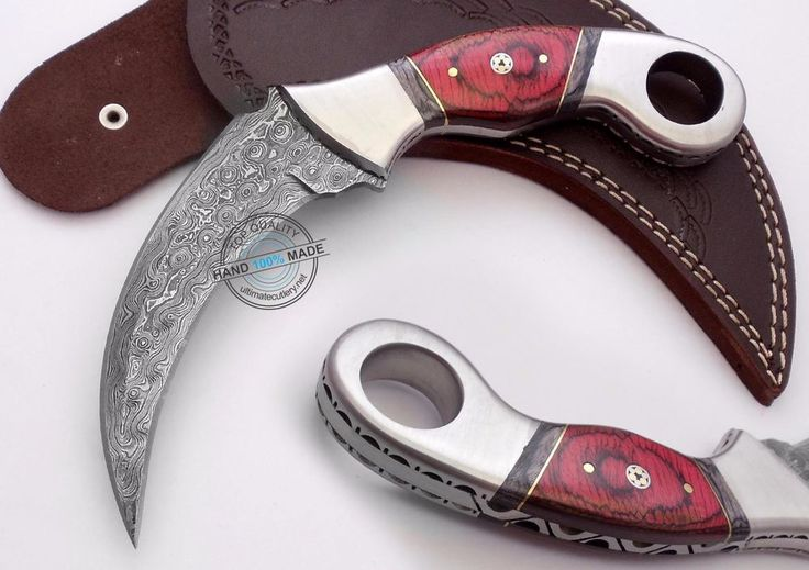 Custom Made Beautiful Damascus steel Double Edge  Karambit Knife (797-32) #UltimateWarrior