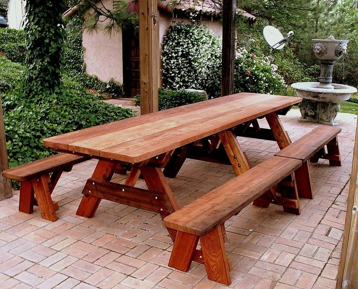 Garden Furniture Table Bench Seat best 20+ picnic tables ideas on pinterest | diy picnic table