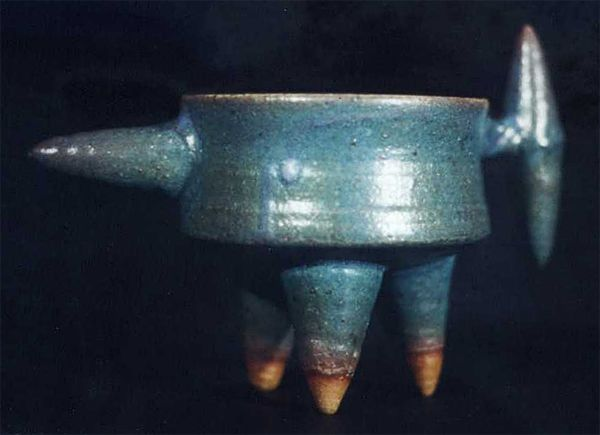 1990 - Cup with tripod feet. I went through a phase where I was trying to see how many ways I could use cones!
