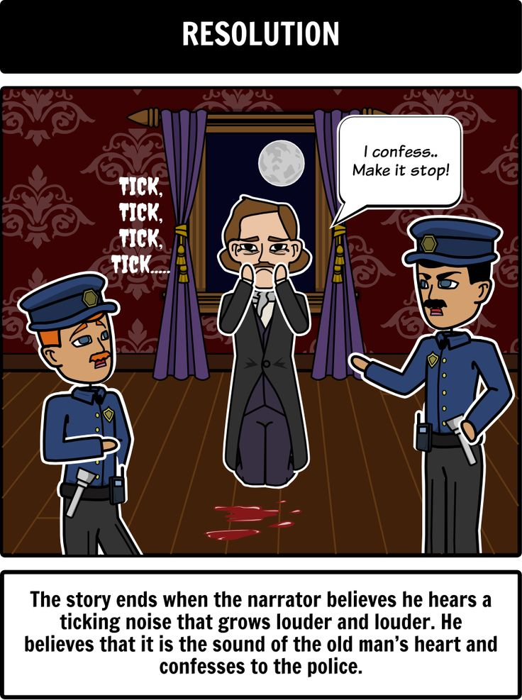 an analysis of the narrative in the tell tale heart a story by edgar allan poe Element of any story 19 task 2: narrative voice write a paragraph  the tell tale heart by edgar allan poe  analysis of the tell tale heartppt.