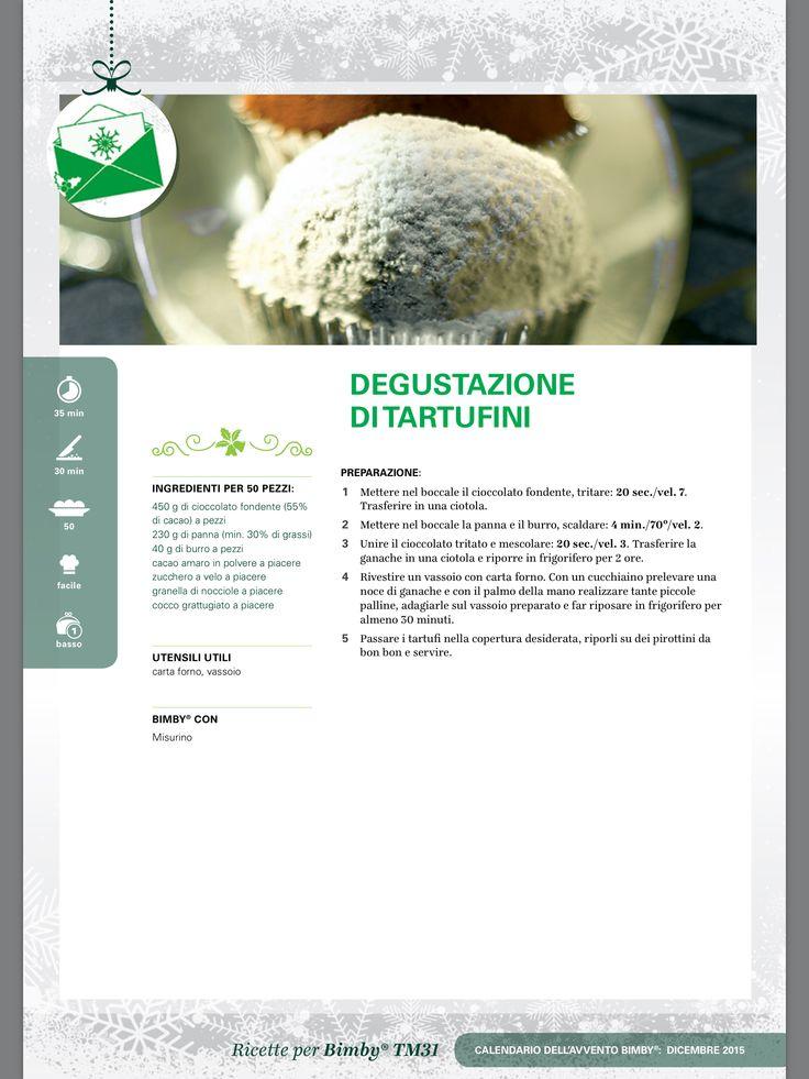 Degustazione di tartufini - Ricette Bimby
