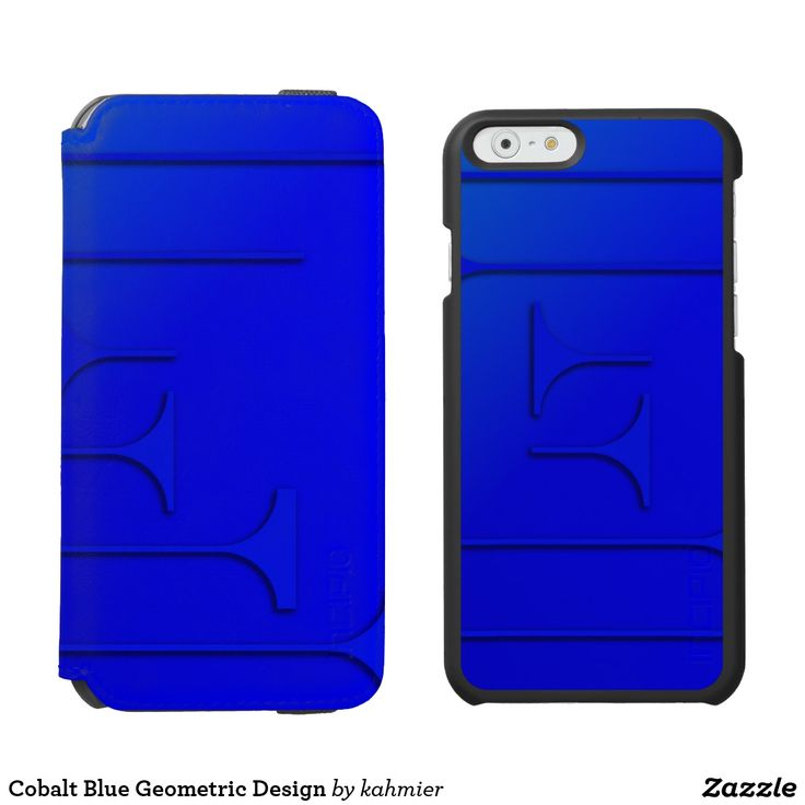 Cobalt Blue Geometric Design iPhone 6/6s Wallet Case 50% off