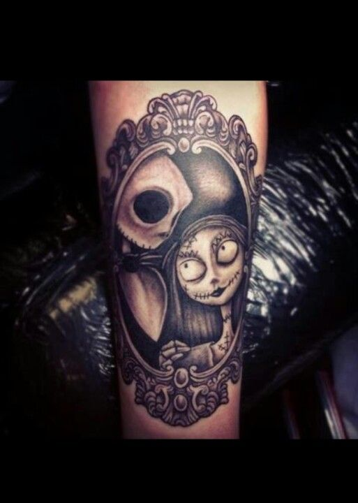 Beautiful Jack & Sally tattoo. Tim Burton's nightmare before christmas