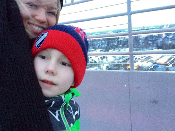 21.02.2014 Jimin kanssa stadionin tornissa