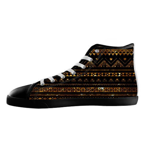 Aztec Black Tinsel Gold Shoes - Available Here: http://www.customdropshipping.com/personalized-design/personalized/aztec-black-tinsel-gold-47315