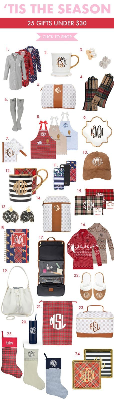25 Personalized Gifts Under $30 | The Monogrammed Life | Bloglovin'