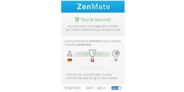 Anonym surfen dank ZenMate.