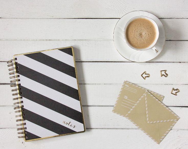 Coffee, Envelopes, Work Desk, Notebook, White, To Write
