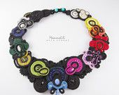 Beautiful spring  necklace  method soutache